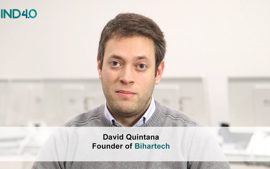 """David Quintana (Bihartech): """"We use virtual and augmented reality to improve the work of industrial companies"""""""